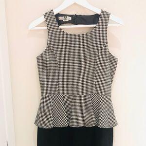 Dresses & Skirts - Open Back Peplum Dress Size M